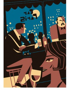 "Ilustración ""Bar Paris"" de..."
