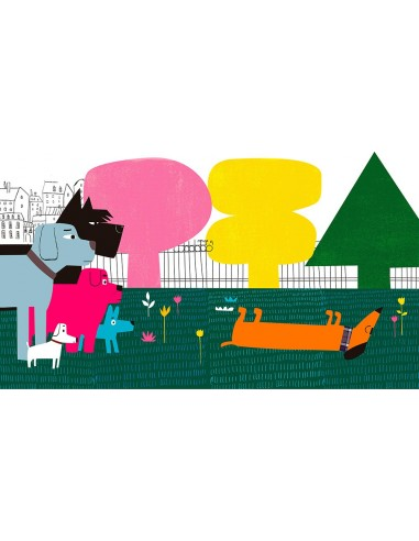 "Illustration ""Dogs in the park"" by..."