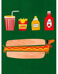 "Ilustración ""Hot Dog"" de..."
