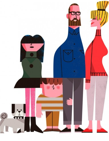 "Illustration ""United Family"" by Mikel..."
