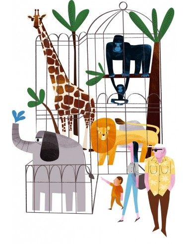 "Illustration ""Zoo"" by Mikel Casal. A4..."