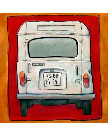 """Illustration """"Renault 4"""" by Roskow...."""