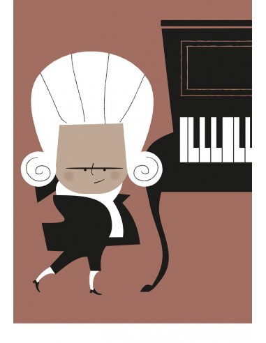 "Illustration ""Mozart"" by Mikel Casal...."