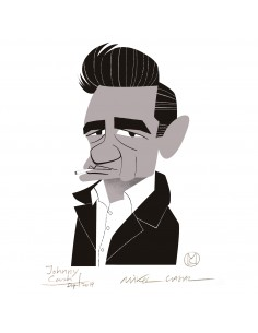 "Ilustración ""Johnny Cash""..."