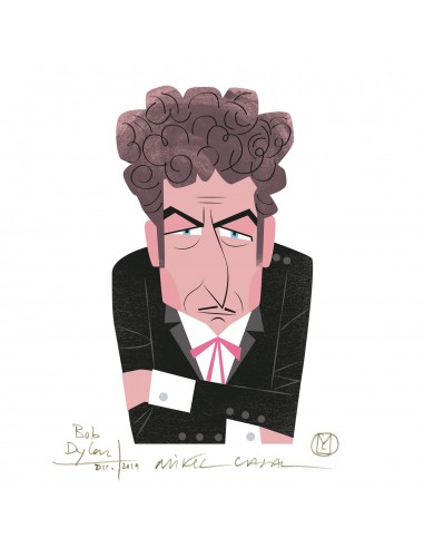 """Illustration """"Bob Dylan"""" by Mikel..."""