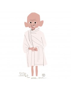 "Illustration ""Gandhi"" by..."