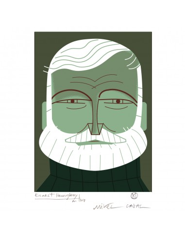 "Illustration ""Ernest Hemingway"" by..."