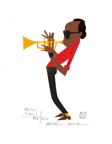"""Illustration """"Miles Davis"""" by Mikel..."""
