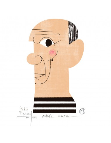 "Illustration ""Pablo Picasso"" by Mikel..."