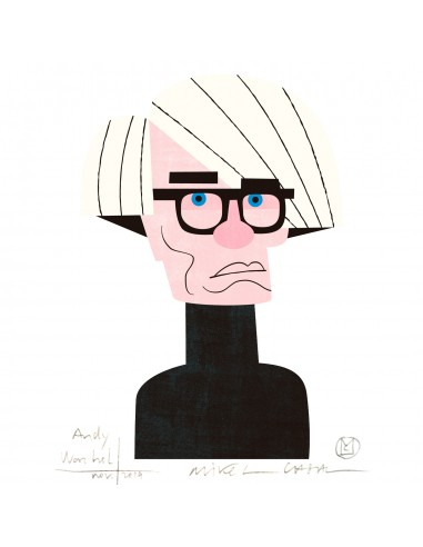 """Illustration """"Andy Warhol"""" by Mikel..."""