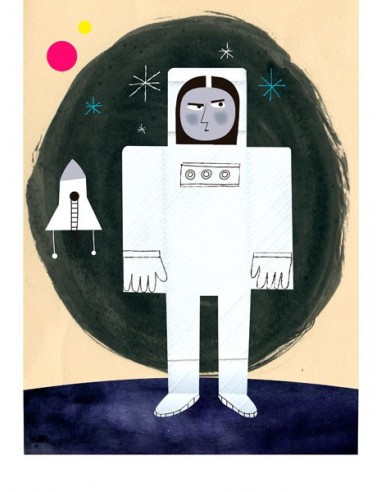 """Illustration """"Astronauta"""" by Mikel..."""