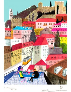 "Illustration ""Lisboa"" by..."