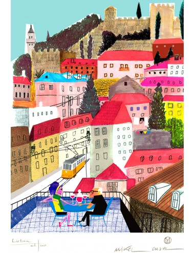 "Illustration ""Lisboa"" by Mikel Casal...."