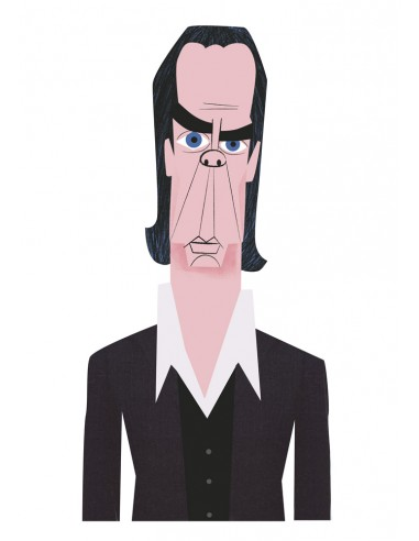 """Illustration """"Nick Cave"""" by Mikel..."""