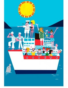 "Illustration ""Crucero"" by..."