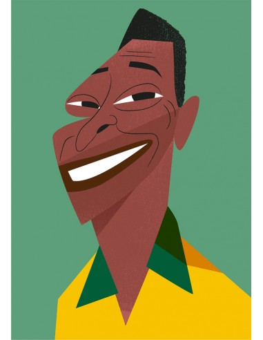 "Illustration ""Pelé"" by Mikel Casal...."
