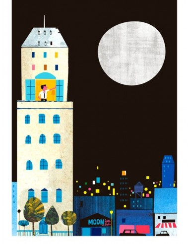 """Illustration """"Moon"""" by Mikel Casal...."""