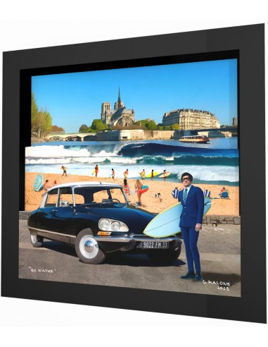 """""""Be water"""" framed 3d collage by Malone"""