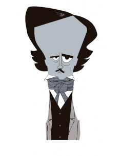 "Illustration ""Poe"" by Mikel..."