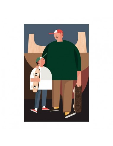 """Illustration """"Dad"""" by Mikel Casal. A5..."""