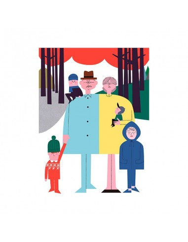 """Illustration """"Family 2"""" by Mikel..."""
