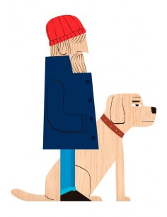 "Ilustración ""Old Sea Dog""..."